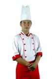 Aziatisch chef-kokportret Stock Foto
