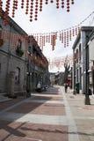 Aziatisch China, Peking, de commerciële straat van Qianmen, van Bedrijfs Taiwan district Royalty-vrije Stock Afbeelding
