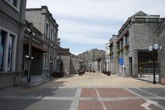 Aziatisch China, Peking, de commerciële straat van Qianmen, van Bedrijfs Taiwan district Royalty-vrije Stock Foto's