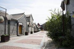 Aziatisch China, Peking, de commerciële straat van Qianmen, van Bedrijfs Taiwan district Stock Foto