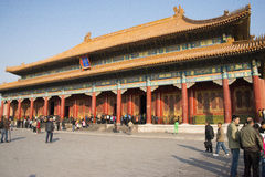 Aziatisch China, Peking, historische gebouwen, het Keizerpaleis Stock Foto's
