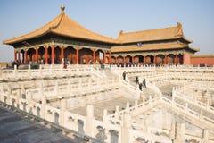 Aziatisch China, Peking, historische gebouwen, het Keizerpaleis Royalty-vrije Stock Fotografie