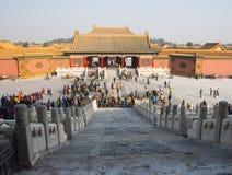 Aziatisch China, Peking, historische gebouwen, het Keizerpaleis Stock Afbeeldingen
