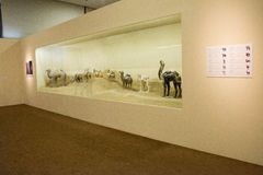 Aziatisch China, Peking, Nationaal Museum, de tentoonstelling, de westelijke gebieden, de zijdeweg, Stock Afbeeldingen