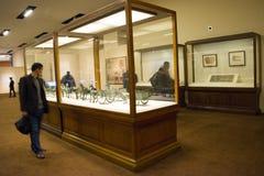 Aziatisch China, Peking, Nationaal Museum, iThe tentoonstelling, de westelijke gebieden, de Zijdeweg Stock Afbeelding