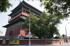 Aziatisch China, Peking, oude architectuur, de Trommeltoren Stock Fotografie