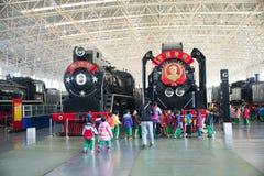Aziatisch China, Peking, Spoorwegmuseum, tentoonstellingszaal, trein Stock Foto