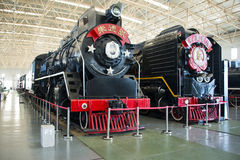 Aziatisch China, Peking, Spoorwegmuseum, tentoonstellingszaal, trein Royalty-vrije Stock Afbeelding