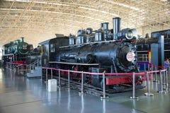 Aziatisch China, Peking, Spoorwegmuseum, tentoonstellingszaal, trein Stock Fotografie