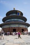 Aziatisch China, Peking, Tiantan-Park, de zaal van gebed voor goede oogsten Stock Afbeelding