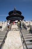 Aziatisch China, Peking, Tiantan-Park, de zaal van gebed voor goede oogsten Stock Afbeeldingen