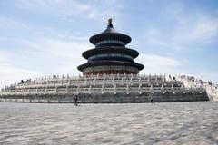 Aziatisch China, Peking, Tiantan-Park, de zaal van gebed voor goede oogsten Royalty-vrije Stock Afbeeldingen