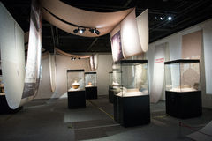 Aziatisch Chinees, hoofdmuseum, Peking, Zuiden aan de Tentoonstelling van het de Afleidingsactieproject van het het Noordenwater Royalty-vrije Stock Foto