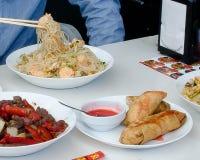 Aziatisch Chinees voedselmenu Royalty-vrije Stock Afbeeldingen
