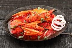 Aziatisch cuisine- Heerlijk vers, geroosterd krabkerriepoeder royalty-vrije stock afbeelding