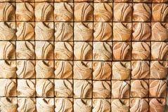 Aziatisch de bakstenen muurpatroon van de stijlkunst royalty-vrije stock afbeelding