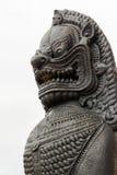 Aziatisch de leeuwstandbeeld van het oosten Royalty-vrije Stock Foto