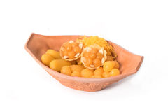 Aziatisch die dessert, van boon-deeg, gekookte de zachte toffeeballen wordt gemaakt van het eijuk Stock Foto