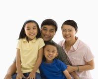 Aziatisch familieportret. royalty-vrije stock foto