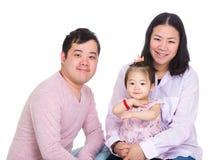 Aziatisch familieportret Royalty-vrije Stock Foto's