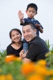 Aziatisch familieportret Royalty-vrije Stock Fotografie
