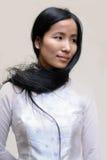 Aziatisch geïsoleerde meisje Stock Foto's