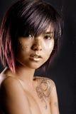 Aziatisch gezicht royalty-vrije stock afbeeldingen