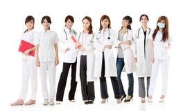 Aziatisch gezondheidszorgteam Royalty-vrije Stock Foto's