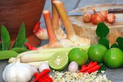 Aziatisch heet en kruidig voedsel Stock Afbeelding