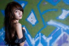 Aziatisch het meisjesportret van steunen Royalty-vrije Stock Foto's