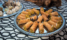Aziatisch het Voedselbuffet van de Broodjesups Partij Stock Afbeelding