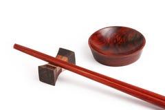 Aziatisch houten vaatwerk Stock Afbeelding