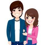 Aziatisch Japans Paar vector illustratie