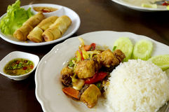 Aziatisch kruidig voedsel Stock Foto