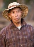 Aziatisch landbouwersportret Stock Foto's