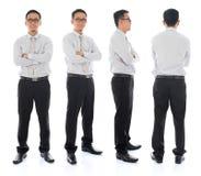 Aziatisch mannetje in verschillende hoek Stock Foto's