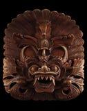Aziatisch masker dat op zwarte wordt geïsoleerdn Stock Foto