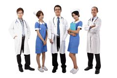 Aziatisch medisch team Royalty-vrije Stock Afbeeldingen