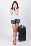 Aziatisch meisje in reisconcept Royalty-vrije Stock Afbeelding