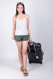 Aziatisch meisje in reisconcept Stock Foto