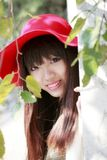 Aziatisch meisjes openluchtportret Stock Foto