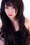 Aziatisch meisjesportret stock afbeeldingen