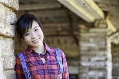 Aziatisch meisjesportret Stock Foto's
