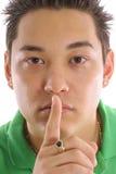 Aziatisch mensengeheim royalty-vrije stock afbeelding