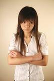 Aziatisch ongelukkig meisje Royalty-vrije Stock Fotografie
