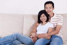 Aziatisch Paar royalty-vrije stock afbeelding