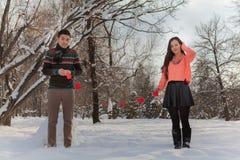 Aziatisch paar in liefde Stock Afbeeldingen