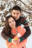 Aziatisch paar in liefde Royalty-vrije Stock Afbeeldingen