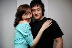 Aziatisch paarportret Royalty-vrije Stock Afbeeldingen