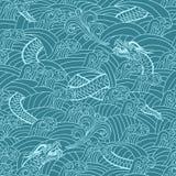 Aziatisch patroon met draakachtergrond Stock Foto